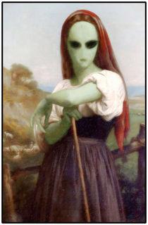 Bouguereau's Alien Shepherdess by gravityx9