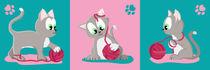 Kätzchen Silbergrau serie by Michaela Heimlich