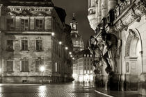 raining day Dresden at night by drachenkind
