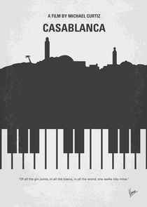 No192 My Casablanca minimal movie poster  by chungkong