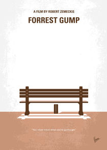 No193 My Forrest Gump minimal movie poster von chungkong