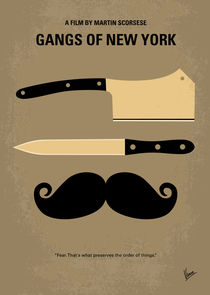 No195 My Gangs of New York minimal movie poster von chungkong