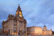 Liverpool Pier Head Night von Phillip Orr