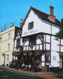 Duke of Wellington Tudor pub Southampton by Martin  Davey