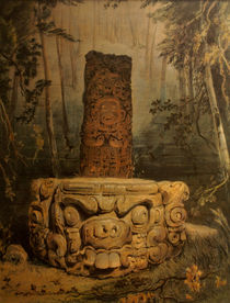Idol and Altar at Copan von John Mitchell