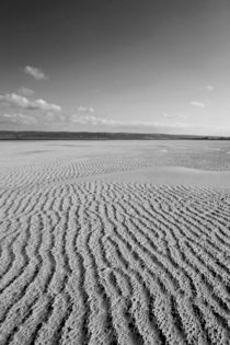 Broughton Sand Black and White by Dan Davidson