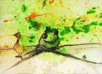 Froschbild grün - mit Baby by Conny Wachsmann