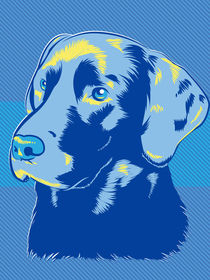 Labrador Dog Pop Art Style by Geoff Leighly