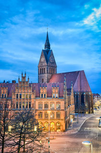 Marktkirche and The Old City Hall, Hannover von Michael Abid