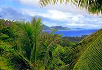 Blick von der Seychelleninsel La Digue nach Praslin by Manfred Koch