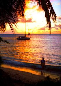 Sonnenuntergang auf der Karibikinsel St. Lucia von Manfred Koch