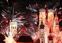 München Silvester Feuerwerk  von M.  Bleichner