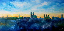 München Skyline mit Frauenkirche von M.  Bleichner