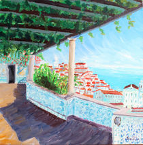 Lisbon Alfama With Atlantic Ocean by M.  Bleichner