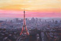 Paris, Eiffelturm im Sonnenuntergang von M.  Bleichner