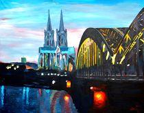 Kölner Dom mit Hohenzollernbrücke by M.  Bleichner