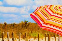 italian beach with umbrella von Leandro Bistolfi