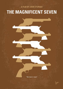 No197 My The Magnificent Seven minimal movie poster  von chungkong