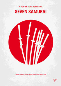 No200 My The Seven Samurai minimal movie poster by chungkong