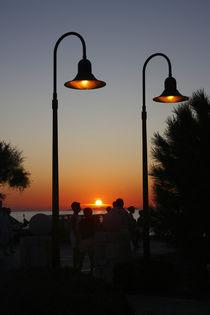 An evening mediterranean scene. by Gordan Bakovic
