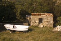 A small house and a boat. von Gordan Bakovic