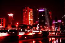 Frankfurt @ Night in rot von Detlef Koethner