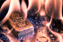 goldbars and flame by evgeny bashta