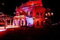 Alte Oper in Rot von Detlef Koethner