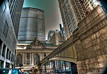 GRAND CENTRAL TERMINAL AND GROPIUS SKYSKRAPPER  IN NYC von Maks Erlikh