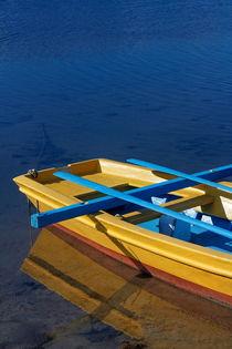 The yellow fishing boat detail. by Gordan Bakovic