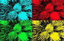 Columns of Pop Art colours by Robert Gipson