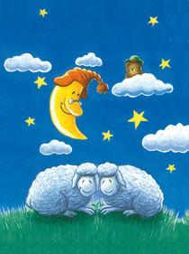 Schlafende Schafe von Axel Dissmann