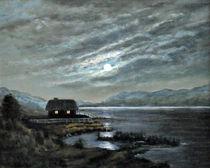 Abendstimmung am See von Edith Gracin