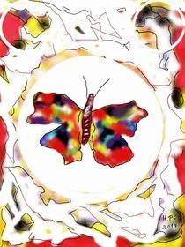 Regenbogen-Schmetterling 1 by Heide Pfannenschwarz