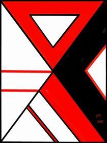 Farbenrausch rot weiß schwarz von Heide Pfannenschwarz