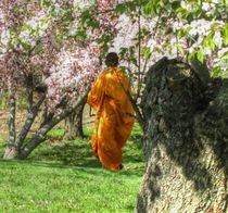 MONK IN CHERRY GARDEN by Maks Erlikh
