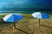 The Beach Umbrellas by Larisa Kroshkin
