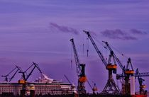 The Cranes of Hamburg II by Michael Beilicke
