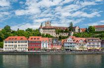 Meersburger Seepromenade mit Burg und Schloss von Erhard Hess