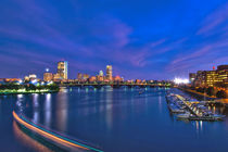 Boston Night on the Charles River 2 by Joann  Vitali