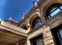 Detail of art nouveau building by Maks Erlikh