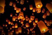 Chiang Mai lanterns  by Neung Nukul