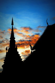 Temple sunset von Neung Nukul