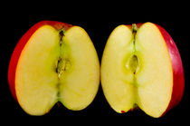 sliced apple by digidreamgrafix