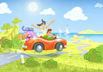 Driving to the Sea by Oleksiy Tsuper