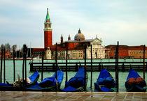 Gondolas and San Giorgio Maggiore, Venice von Linda More