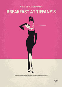 No204 My Breakfast at Tiffanys minimal movie poster von chungkong