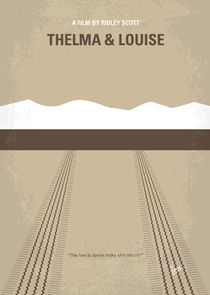 No189 My Thelma and Louise minimal movie poster von chungkong