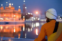 Sikh warrior at  Golden Temple by perfectlazybones