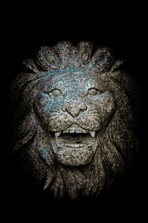 Carved Stone Lion's Head by loriental-photography